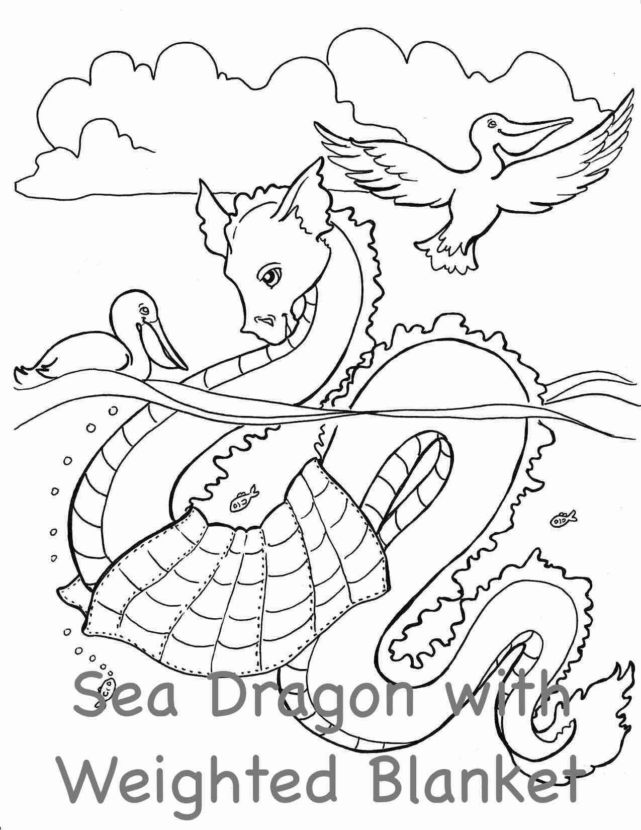 ocean dragon coloring pages - photo#48